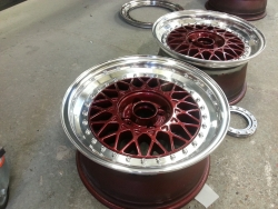 Wheel refurbishment at Berckland Body Tech
